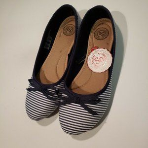 NEW SO Women's Soboatstripe Flats SIZE 6.5